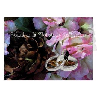 Wedding in den fabelhaften Hochzeits-Bändern Ca Grußkarte