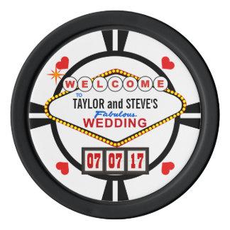 Wedding in den poker chip set