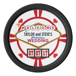 Wedding in den poker chips