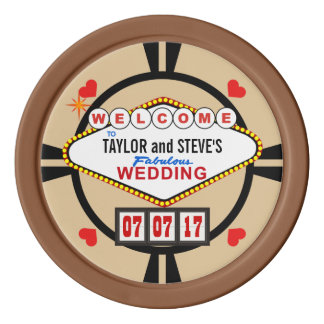 Wedding in den poker chips set