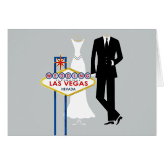 Wedding in der Las Vegasbraut-u. -bräutigam-Karte Karte