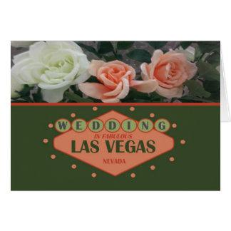 WEDDING IN FABELHAFTEN ROSEN Ca LAS VEGAS Karte