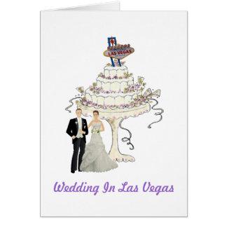 Wedding in Las Vegas-Karte Karte