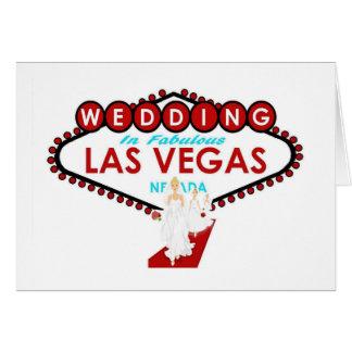 Wedding in Las Vegas mit Brautjungfern-Karte Karte