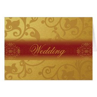 Wedding Invitation Card Folded  Indian style Mitteilungskarte