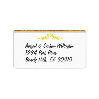 Wedding laden ein oder danken Sie Adressetiketten