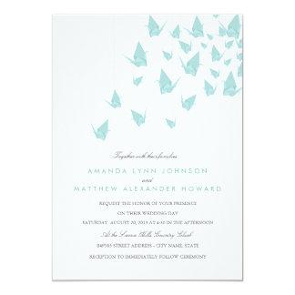 Wedding Origami Papierkräne 12,7 X 17,8 Cm Einladungskarte
