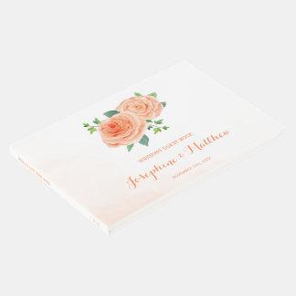 Wedding Pfirsich-Rosen Gästebuch