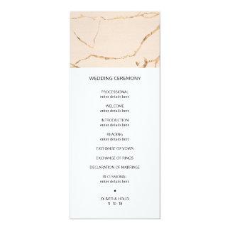 Wedding Programm des Rosas und des Karte