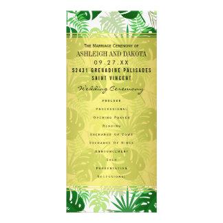 Wedding programmiert | exotisches grünes werbekarte