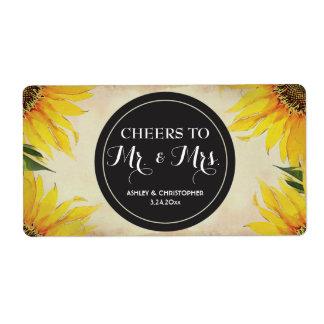 Wedding Reception Mini Champagne Label Favor Versandetiketten