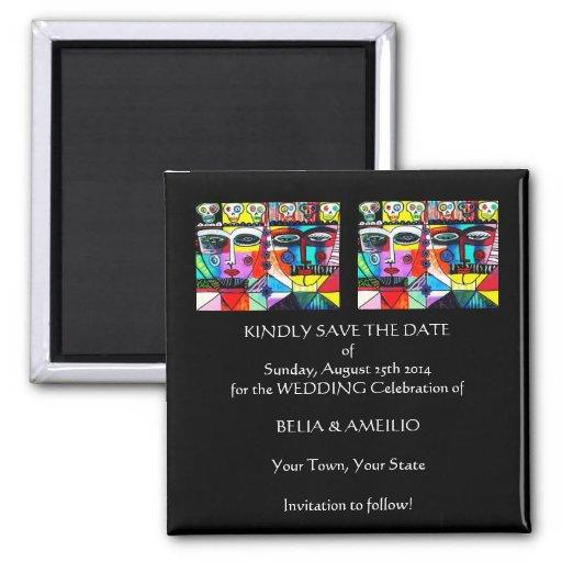 """Wedding """"Save the Date"""" Magnet - Tag der Toten Kühlschrankmagnete"""