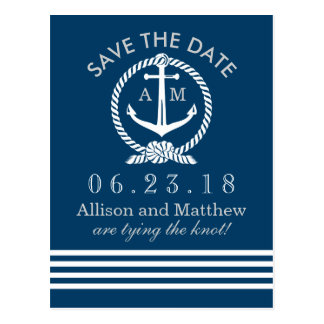 Wedding Save the Date Seethema der Postkarten-| Postkarte