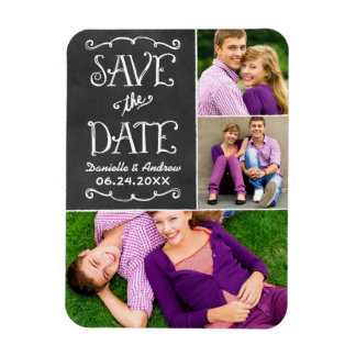 Wedding Save the Date | Tafel-Collage Magnet