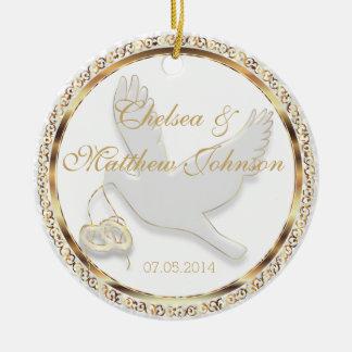 Wedding tauchte für das Braut-und Rundes Keramik Ornament