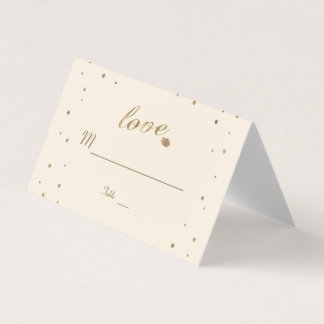 Wedding Tischnummer Goldconfetti-Liebe-Champagne Platzkarte