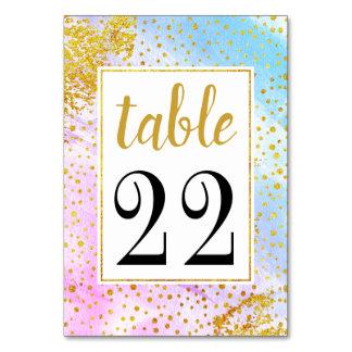 Wedding Tischnummerkarte des rosa und blauen Karte
