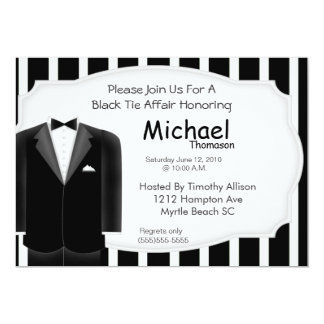 Wedding Tux Bachelor  Party  Invitation