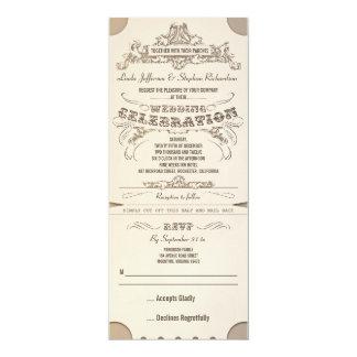 wedding typografische Karteneinladungen mit UAWG 10,2 X 23,5 Cm Einladungskarte