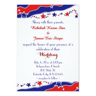 Wedding US Flagge Karte