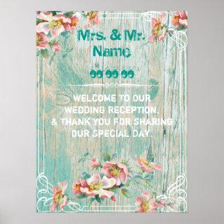 wedding willkommenes Plakat