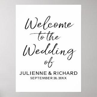 Wedding willkommenes stilvolles mit Buchstaben Poster