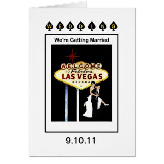 """WEDDING """"wir erhalten verheiratete Las- Vegaskarte Karte"""
