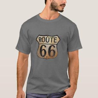 Weg 66 - Grundlegender dunkler T - Shirt