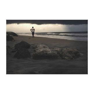 Weg auf dem Strand Leinwanddrucke