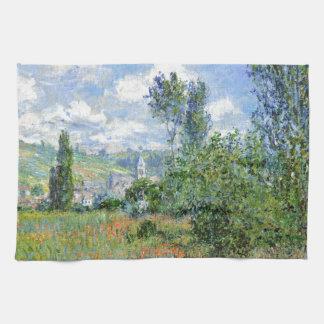 Weg auf den Mohnblumen-Gebieten - Claude Monet Handtuch