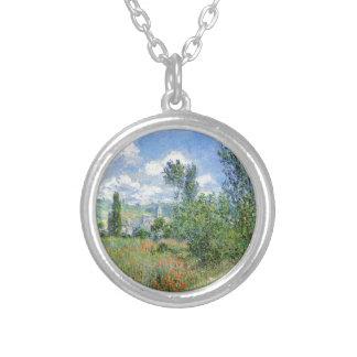 Weg auf den Mohnblumen-Gebieten - Claude Monet Versilberte Kette