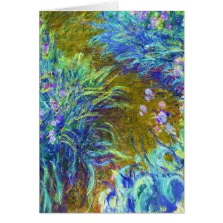 Weg durch die Iris Claude Monet Mitteilungskarte