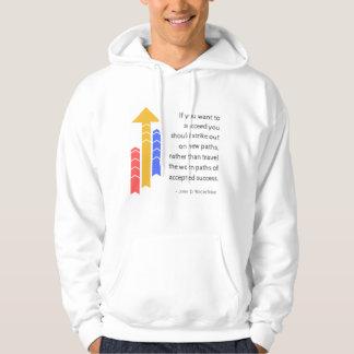 Weg Erfolgs-zum motivierend Zitat-Shirt Hoodie