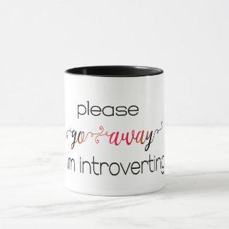 weg gehe ich introverting lustigen tasse