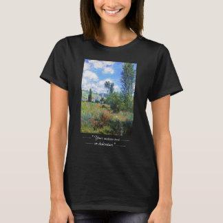 Weg in der Mohnblume fängt St Martin Claude Monet T-Shirt