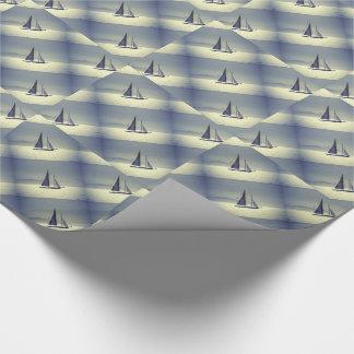 Weg segeln geschenkpapier