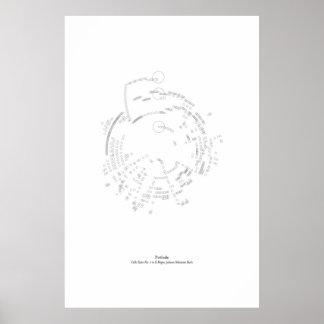 Weg vom Personal: Prélude, Cello-Reihe #1 in Poster