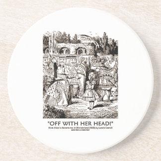 Weg von mit ihrem Kopf! Königin, die Alice-Zitat Getränkeuntersetzer