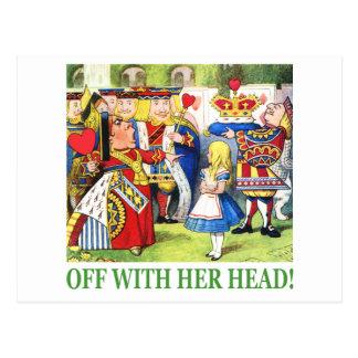 Weg von mit ihrem Kopf! Postkarte