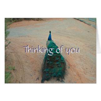Weg-wegpfau - denkend an Sie, kardieren Sie Karte