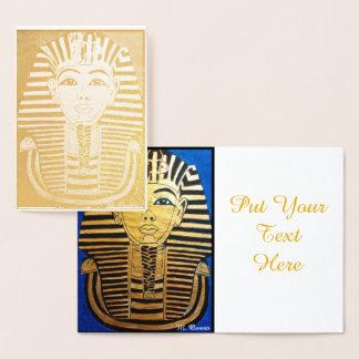 Weg wie eine ägyptische Einladungs-Karte Folienkarte