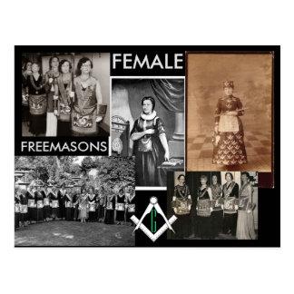 Weibliche gemischte Medien der Freimaurer-  durch Postkarte