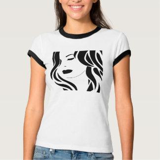 weibliche Grafik T-Shirt