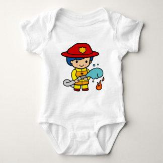 Weiblicher Feuerwehrmann Baby Strampler