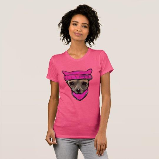 WEIBLICHER HUND T-Shirt