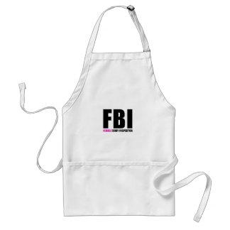 Weiblicher Körper-Inspektor FBI Schürze