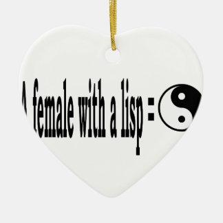 Weiblicher Lisp, 5 Keramik Ornament