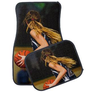 Weibliches Basketball-Spieler-Set von 4 Auto Fussmatte
