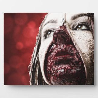 Weibliches makup Blut Fotoplatte