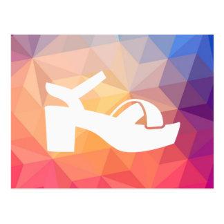 Weibliches Sandale-Bilddagramm Postkarte